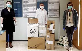 Enviem material de protecció del coronavirus als centres de salut pública