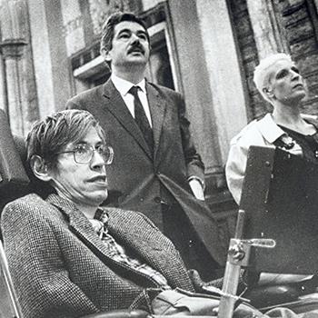 Stephen Hawking i Pasqual Maragall, 1986.