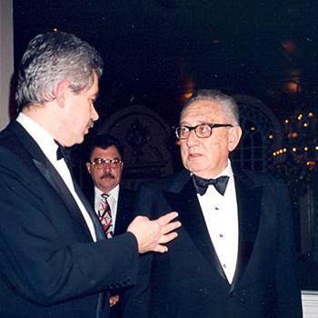 Henry Kissinger i Pasqual Maragall, 1991.