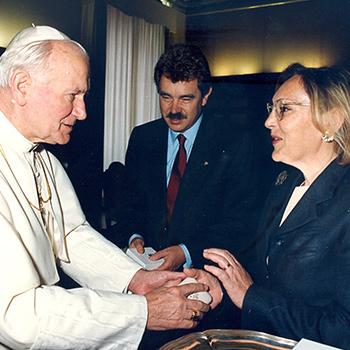Joan Pau II i Pasqual Maragall, 1991.