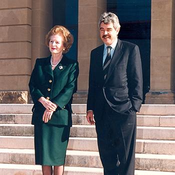 Margaret Thatcher i Pasqual Maragall, 1994.