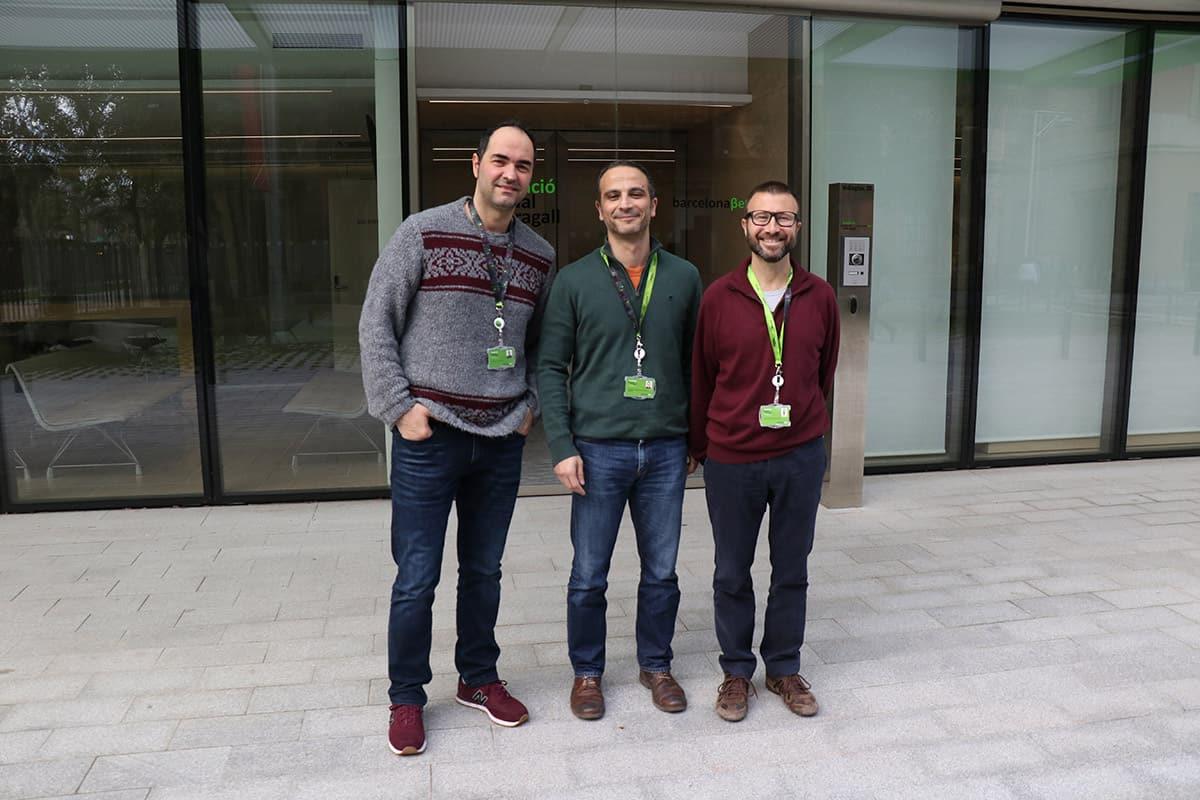 Raffaele Cacciaglia, Juan Domingo Gispert y José Luis Molinuevo, investigadors del BBRC