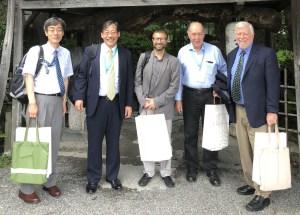 Higuchi Makoto, Takeshi Iwatsubo, José Luis Molinuevo, Colin Masters y Michael Davis en Kyoto.