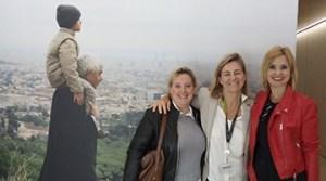 Les responsables de Proclinic durant la seva visita a la Fundació Pasqual Maragall