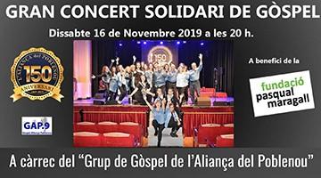 Concert de gòspel solidari al Casino l'Aliança del Poblenou