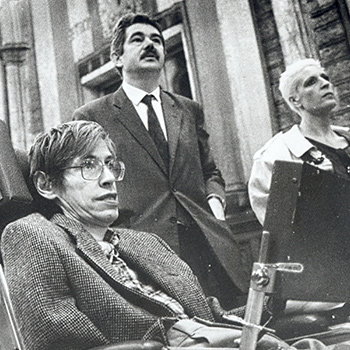 Stephen Hawking and Pasqual Maragall, 1986.
