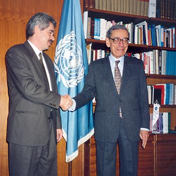 Butros Gali and Pasqual Maragall, 1994.