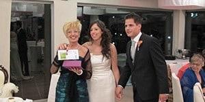 Roser y Dani cedieron un espacio por la investigación contra el Alzheimer en un día tan importante como el de su boda.<br />