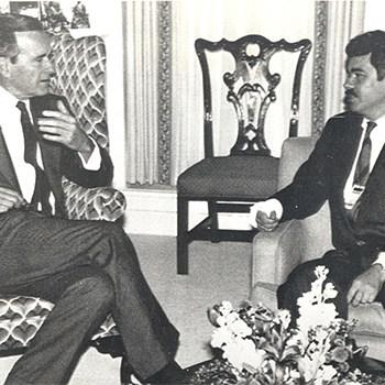 George Bush y Pasqual Maragall, 1986.