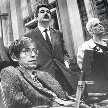 Stephen Hawking y Pasqual Maragall, 1986.