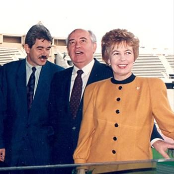 Mikhail Gorbachev y Pasqual Maragall, 1990.