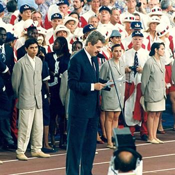 Inauguración de los Juegos Olímpicos de Barcelona, 1992.