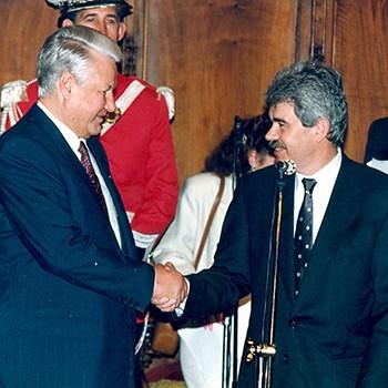 Boris Ieltsin y Pasqual Maragall, 1994.