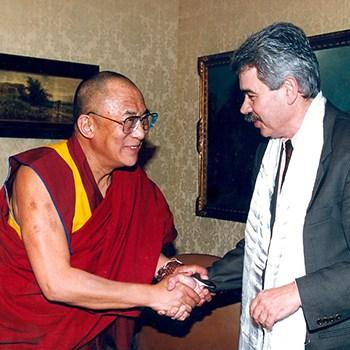 Dalái Lama y Pasqual Maragall, 1994.