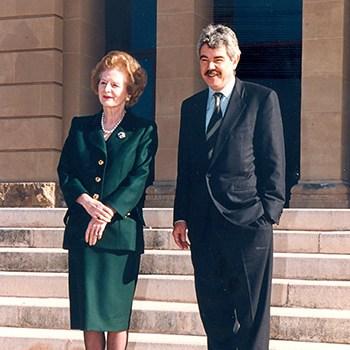Margaret Tatcher y Pasqual Maragall, 1994.
