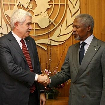 Kofi Annan y Pasqual Maragall, 2006.