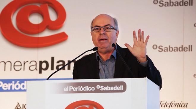Barcelona 15/10/2015 Encuentro Primera Plana  con el Dr. Jordi Camí   Foto : RICARD CUGAT