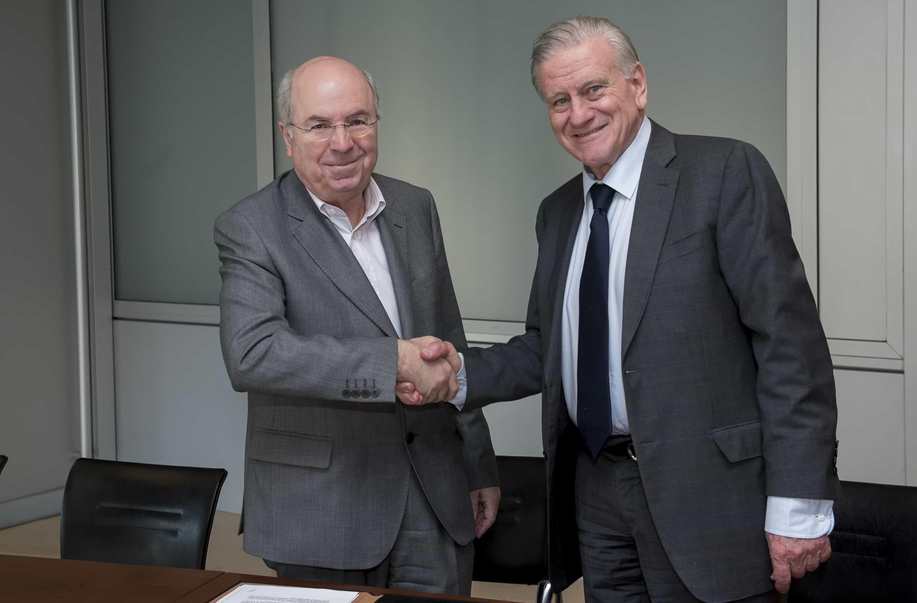 Firma del acuerdo CNIC-Fundación Pasqual Maragall