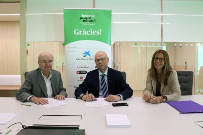 Signatura del conveni de col·laboració de Moventia amb la Fundació Pasqual Maragall