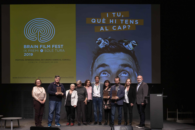 Entrega del Premio Solé Tura en la gala final del Brain Film Fest