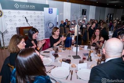 La cena de gala de Rotary Club se celebró en el Club de Polo Barcelona