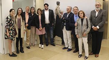 Los miembros del Rotary Club Barcelona Pedralbes durante su visita a la Fundación Pasqual Maragall