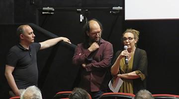 La portavoz de la Fundación, Cristina Maragall, durante su intervención en la sesión de cortos en los Cines Texas