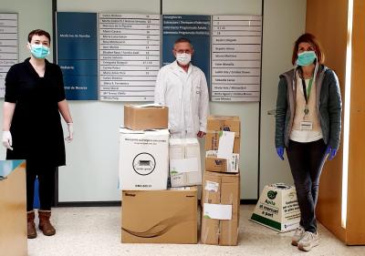 Entrega de material de protección del coronavirus al CAP Sardenya
