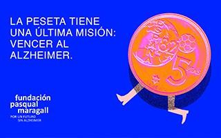 La peseta ha vuelto con una última misión: vencer al Alzheimer. ¡Búscalas por casa y DONA!
