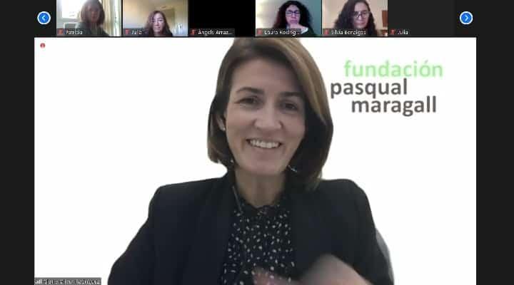 Glòria Oliver en la rueda de prensa organizada por Giving Tuesday España